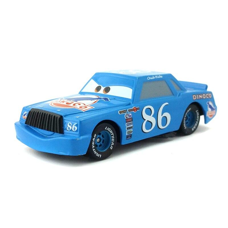 [해외]Disney pixar cars no. 86 dinoco chick hicks 금속 다이 캐스트 장난감 자동차 1:55 느슨한 브랜드의 새로운 재고 및 무료 배송