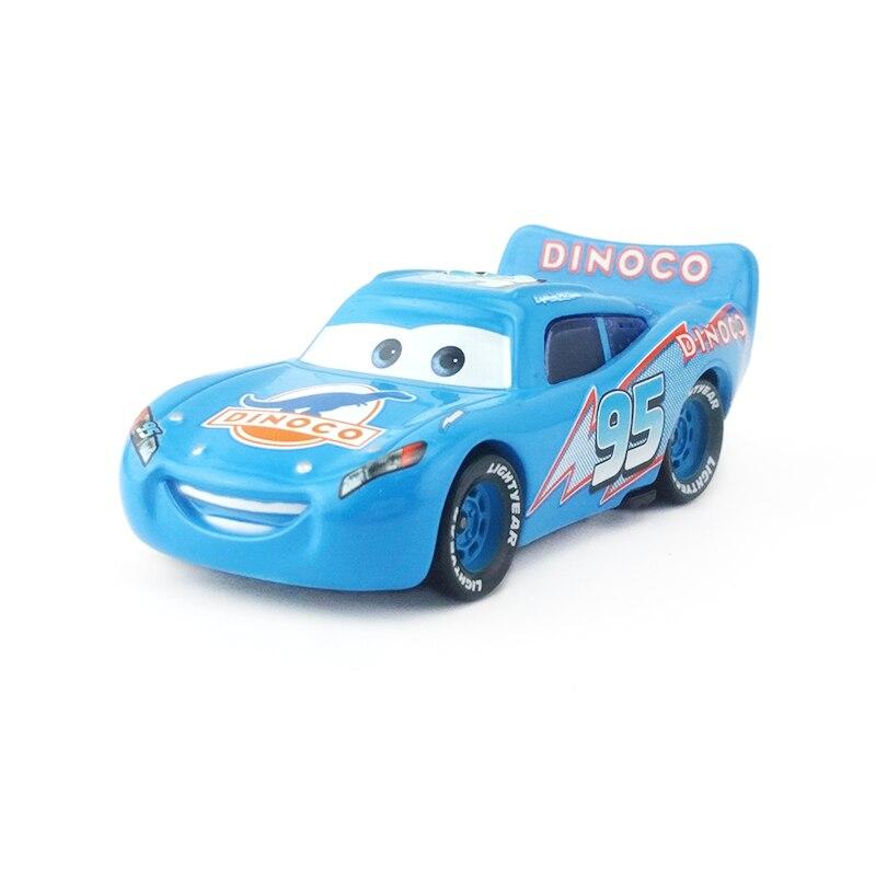 [해외]Disney pixar cars no. 95 dinoco mcqueen 메탈 다이 캐스트 장난감 자동차 1:55 느슨한 브랜드의 새로운 상품 & 무료 배송