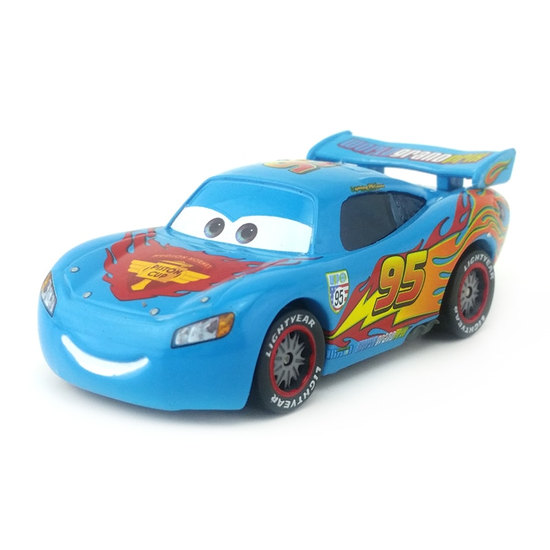 [해외]Disney Pixar Cars Blue Lightning McQueen Metal Diecast Toy Car 1:55 Loose Brand New In Stock & /Disney Pixar Cars Blue Lightning McQueen Metal