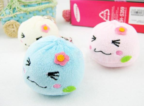 [해외]10pcs/lot Kawaii 3-4CM Dumplings , Mix Colors Mini Plush DOLL TOY ; String Pendant TOY Gift DOLL ; Kid`s Little Gift Plush Toys/10pcs/lot Kawaii 3