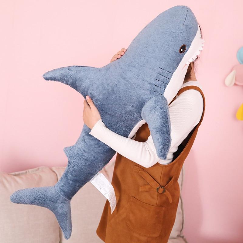 [해외]80/100cm Big Size Funny Soft Bite Shark Plush Toy Pillow Appease Cushion Gift For Children/80/100cm Big Size Funny Soft Bite Shark Plush Toy Pillo