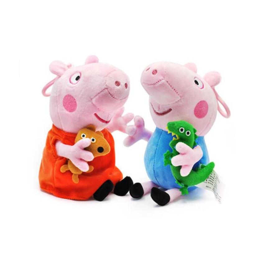 [해외]원래 peppa 돼지 가족 조지 아빠 엄마 19 cm pelucia 장난감 인형 봉제 인형/원래 peppa 돼지 가족 조지 아빠 엄마 19 cm pelucia 장난감 인형 봉제 인형