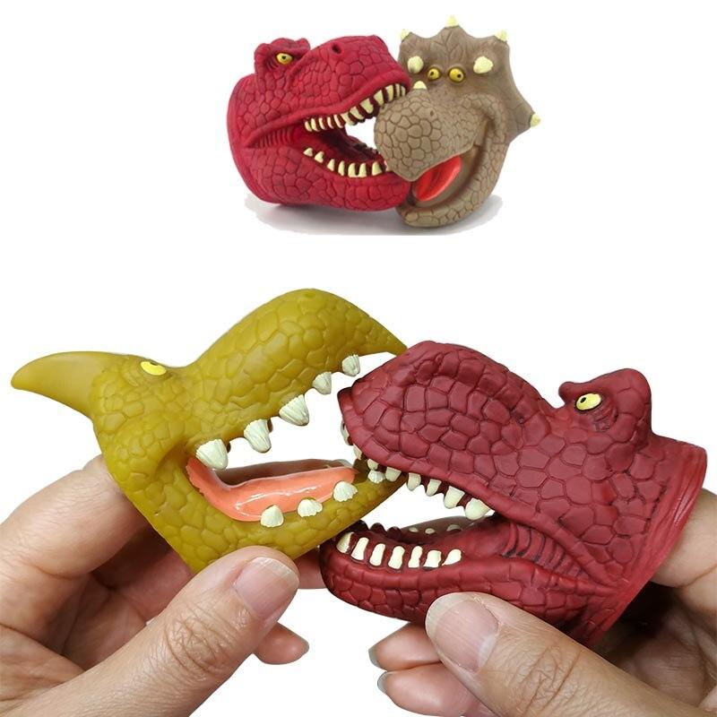 [해외]공룡 인형 6 종류의 부드러운 고무 공룡 장난감 시뮬레이션 공룡 쥬라기 티라노 사우루스 렉스 모델 핸드 인형