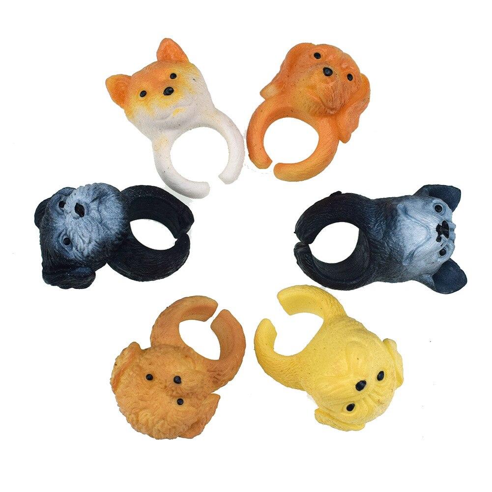 [해외]아이 선물에 대 한 6 개/몫 다른 귀여운 강아지 모델 손가락 인형 장난감
