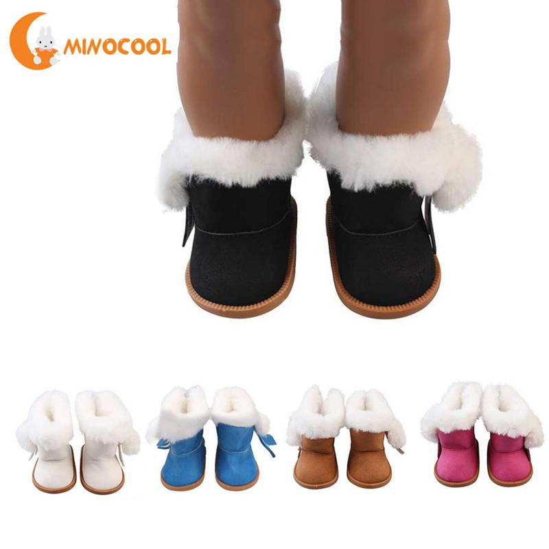 [해외]소녀 미국 인형 장난감 부츠 겨울 반짝이 인형 신발 18 인치 미국 인형 액세서리 소녀의 장난감 드롭 배송