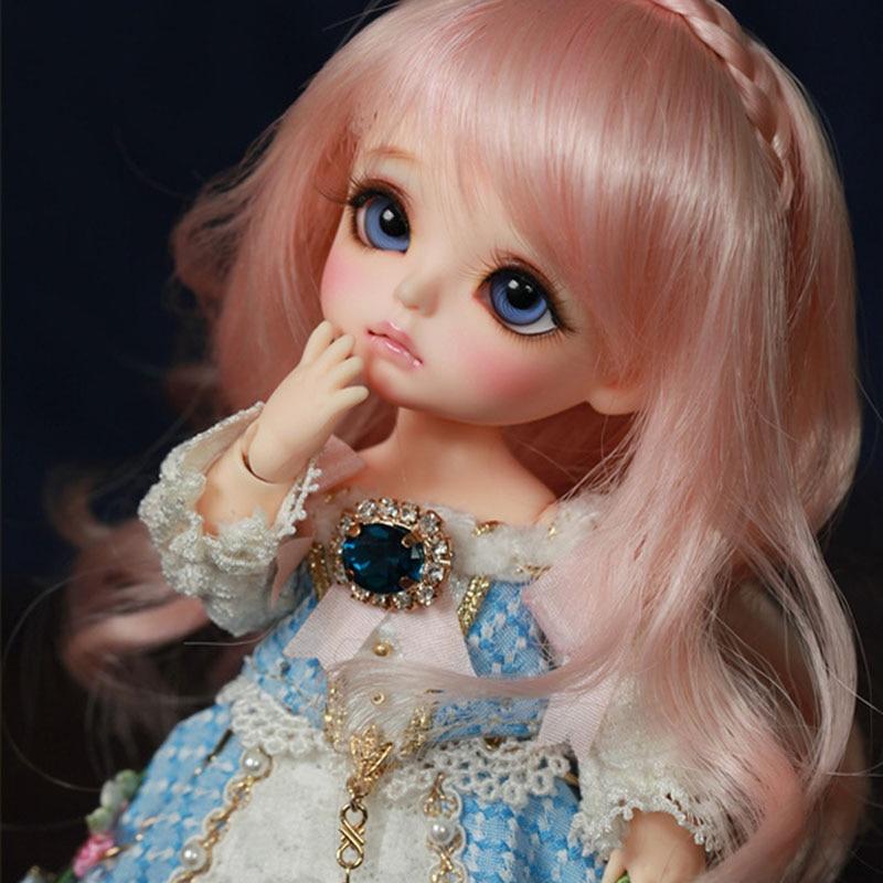 [해외]1/8 bjd 인형 bjd 행복 한 패션 노란색 귀여운 인형 행복 한 여자, 생일 선물에 대 한 눈