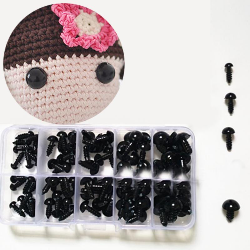 [해외]100pcs 테 디 베어 부드러운 장난감 동물 인형에 대 한 6-12mm 검은 플라스틱 공예 안전 눈 amigurumi diy 액세서리