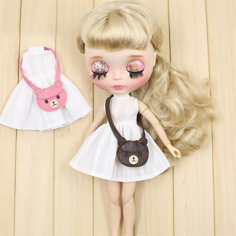 [해외]Blyth doll white dress for teddy bag icy, jerryberry, licca, pullip 용 귀여운 드레싱/Blyth doll white dress for teddy bag icy, jerryberry, licc