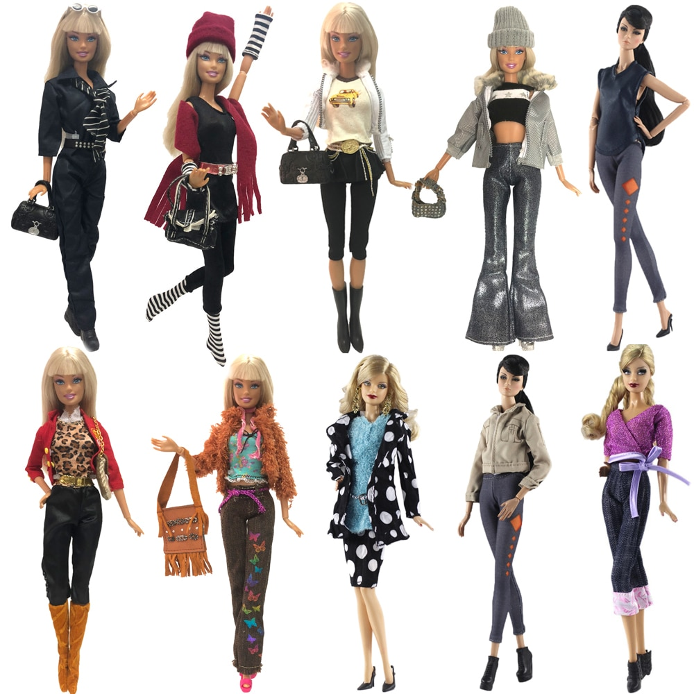 [해외]NK 2019 Newest Doll Dress Winter Coat Handmade Clothes Top Fashion Outfit Cool Shirt Beauty Suit  For Barbie Doll Accessories JJ/NK 2019