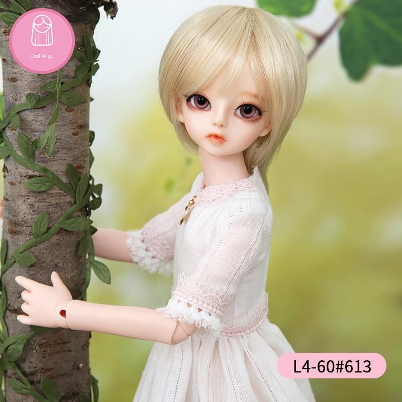 [해외]Wig For BJD Doll  size 7-8inch 1/4 high-temperature handmade wig long hair bjd sd doll Wigs in beauty  Short hair/Wig For BJD Doll  size 7-8inch 1