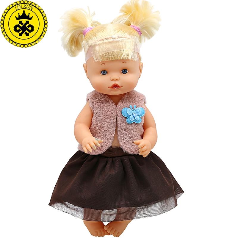 [해외]Doll Clothes Brown sleeveless jacket + lace skirt Suit Fit 33-35cm 14inch Nenuco Doll Nenuco y su Hermanita Doll Accessories 644/Doll Clothes Brow