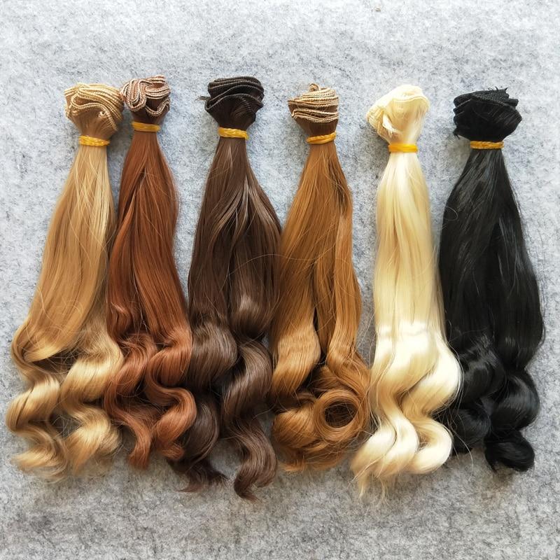 [해외]6PCS/LOT  DIY BJD Wig Hair 25CM Culry Doll Hair For Doll Wigs/6PCS/LOT  DIY BJD Wig Hair 25CM Culry Doll Hair For Doll Wigs