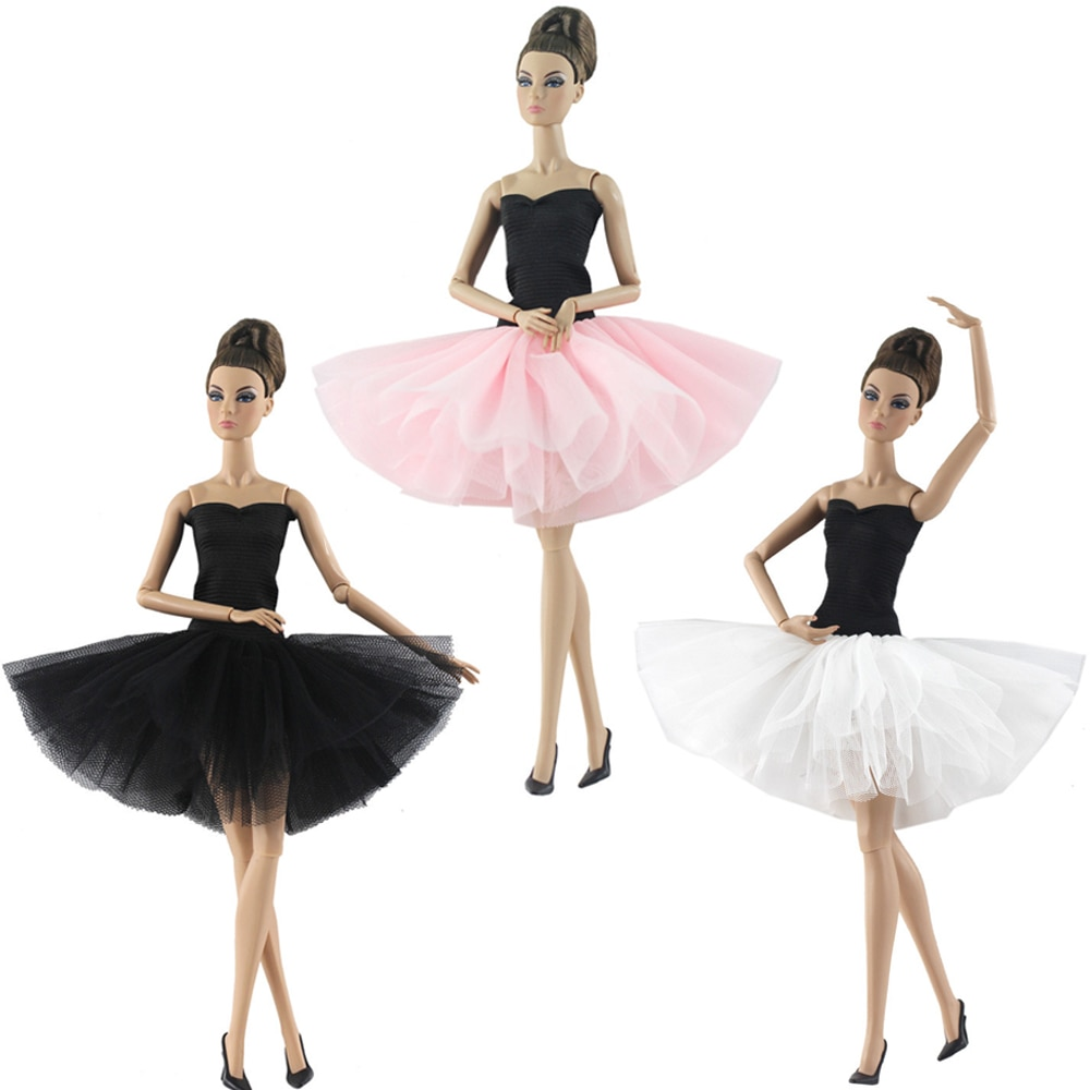 [해외]NK 2019 Newest Doll Dress Handmade Dacing Ballet Dress Clothes  Fashion Outfit For Barbie Doll Accessories Child Girls`Gift JJ/NK 2019 Newest Doll