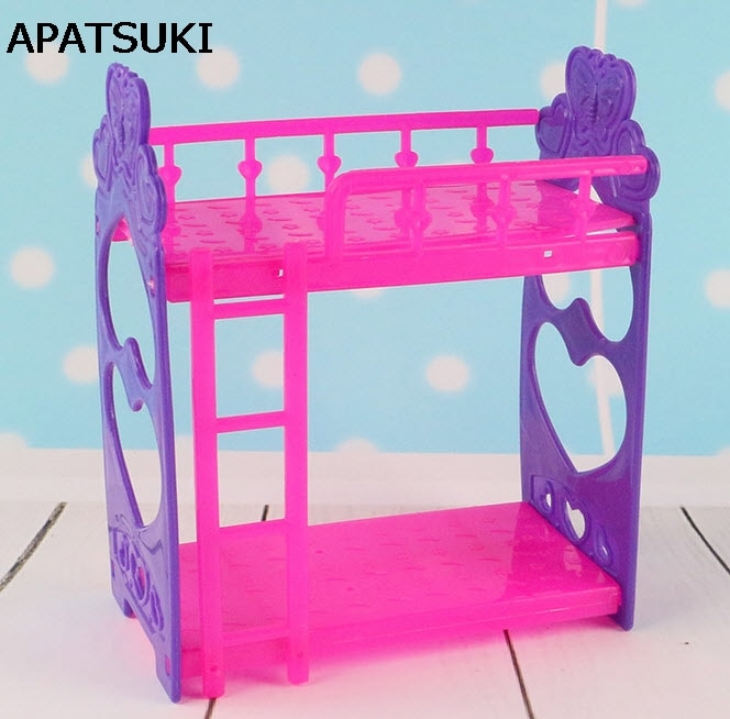 [해외]Kid`s Play House Toys Doll Accessories DIY Assembly Doll`s Plastic Bunk Bed For Kelly dolls Furniture For Barbie Dollhouse/Kid`s Play House Toys D