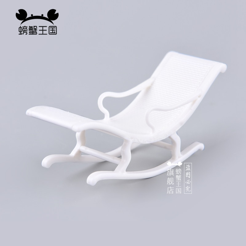 [해외]6pcs 1:25 Dollhouse mini Furniture Miniature Doll accessories Chinese Style Plastic Armchair Rocking Chiar/6pcs 1:25 Dollhouse mini Furniture Mini
