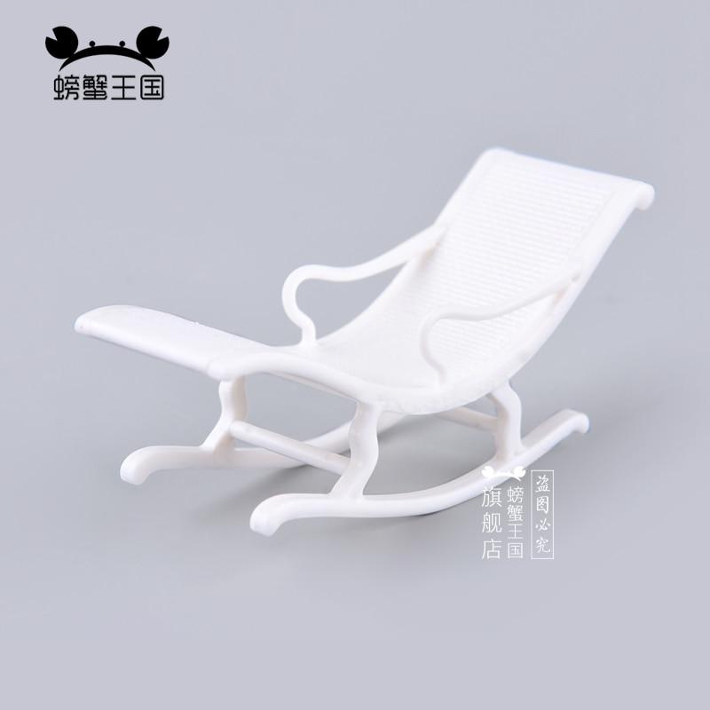 [해외]6pcs 1:25 Dollhouse mini Furniture Miniature Doll accessories Chinese Style Plastic Armchair Rocking Chiar/6pcs 1:25 Dollhouse mini Furniture Mini