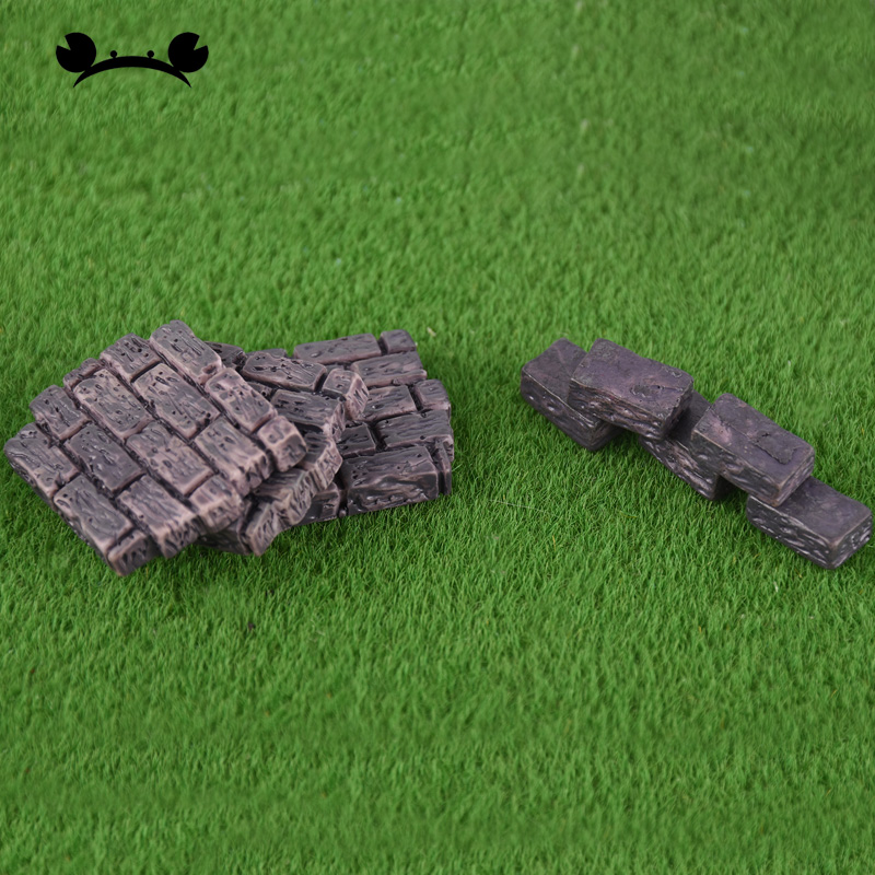 [해외]10pcs Dollhouse mini Furniture Miniature Doll Accessories Chinese Style Blue Plastic Brick Wall/10pcs Dollhouse mini Furniture Miniature Doll Acce