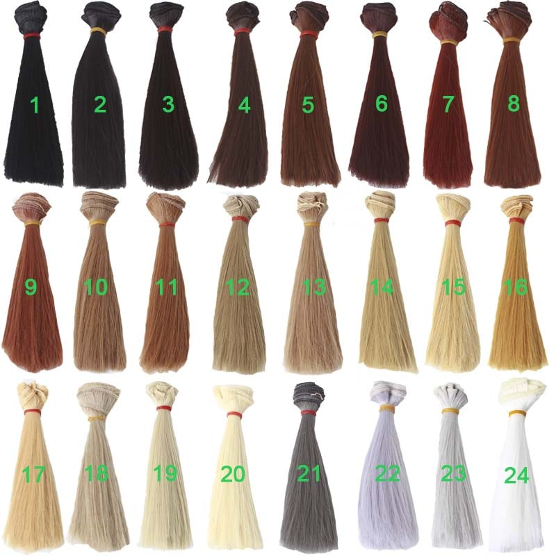 [해외]30PCS/LOT DIY Wig Hair BJD Synthetic Fiber Heat Resistant Hair For Dolls/30PCS/LOT DIY Wig Hair BJD Synthetic Fiber Heat Resistant Hair For Dolls