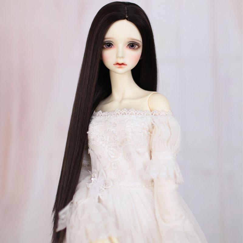 [해외]1/3 1/4 1/6 1/8 Bjd SD Doll Wig High Temperature Wire Long Straight Black Colors BJD Doll Hair/1/3 1/4 1/6 1/8 Bjd SD Doll Wig High Temperature Wi