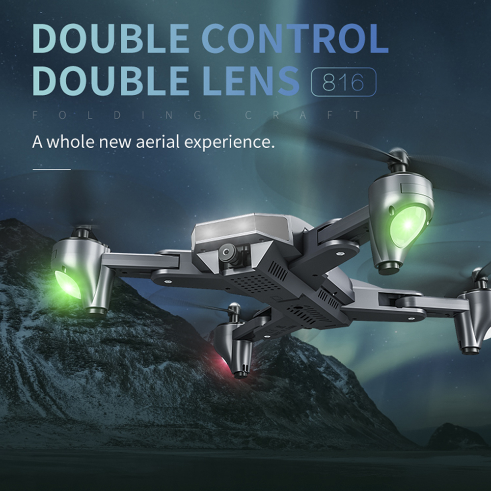 [해외]Visuo XS816 Foldable DroneDual Camera 4K WiFi FPV Selfie Wide Angle Optical Flow Positioning RC Quadcopter Helicopter Toys/Visuo XS816 Foldable Dr