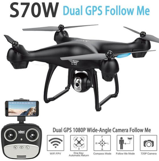 [해외]SJRC S70W GPS Camera RC Drone Quadcopter Helicopter1080p Wide Angle HD Camera Altitude Hold V s20w s30w z5 f11 rc drone/SJRC S70W GPS Camera RC Dr