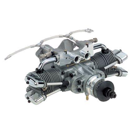 [해외]Rc saito 엔진 부품 4 행정 엔진 182 트윈 실린더 듀얼 플러그: dd (saie182td)
