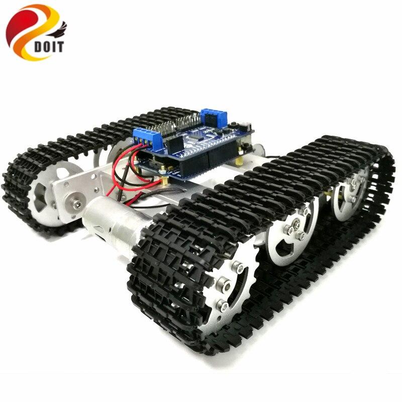 [해외]Mini T100 Crawler Metal Tank Robot ChassisArduino Wireless WiFi Controller Kit for Modification RC Toy by APP Phone/Mini T100 Crawler Me