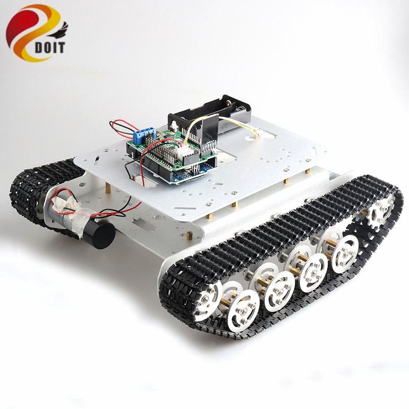 [해외]RC Smart Robot Tank Chassis Robotic BaseDual DC Motor+ UNO Development Board+Motor Driver Board for DIY Project TSD100/RC Smart Robot Ta