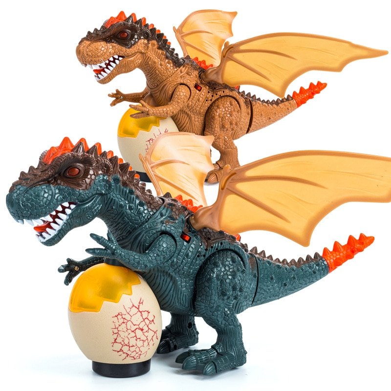 [해외]Infrared RC Dinosaur Toys Remote Control tyrannosaurus Shaking Head Flash Eyes Eggs Walking Spray Dino RC Toys For Children/Infrared RC Dinosaur T