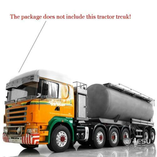 [해외]LESU 20 피트 금속 오일 탱크 트럭 가스 탱커 세미 트레일러 1/14 RC 트랙터 모델 TH14463