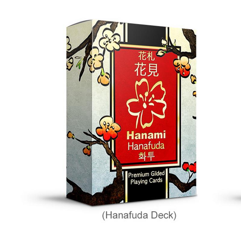 [해외]Hanami hanafuda 퓨전 카드 놀이 포커 크기 데크 lpcc 맞춤 한정판 봉인 된 매직 소품/Hanami hanafuda 퓨전 카드 놀이 포커 크기 데크 lpcc 맞춤 한정판 봉인 된 매직 소품