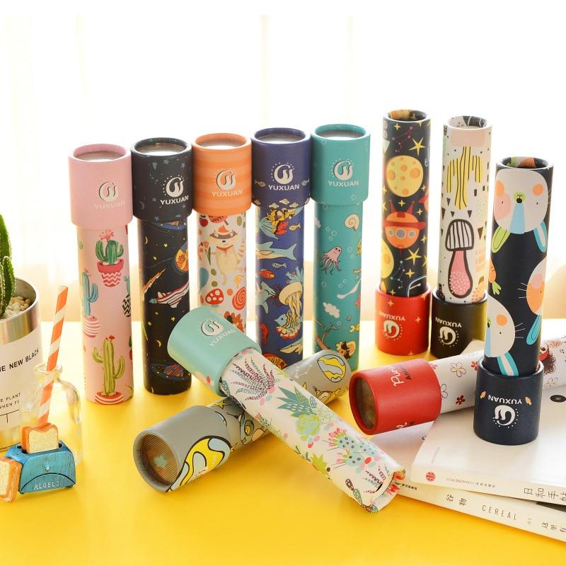 [해외]1 pc 만화 매직 회전 만화경 몬테소리 장난감 어린이 교육 클래식 장난감 크리스마스 선물 brinquedos juguetes