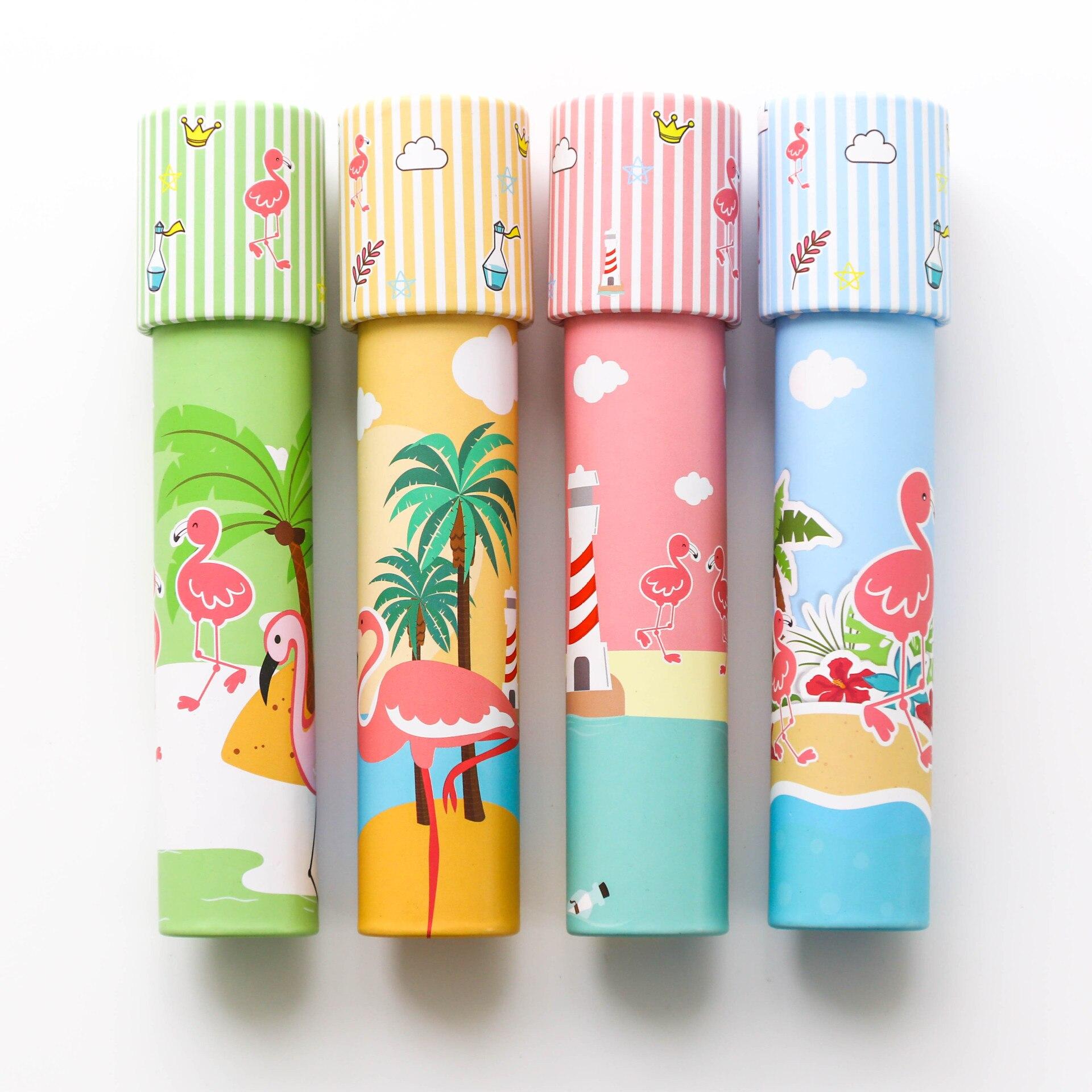 [해외]1 무작위 납품 새로운 창조적 인 만화경 장난감 플라밍고 꽃의 다양성 뜨거운 공기 풍선 아이들의 교육 장난감
