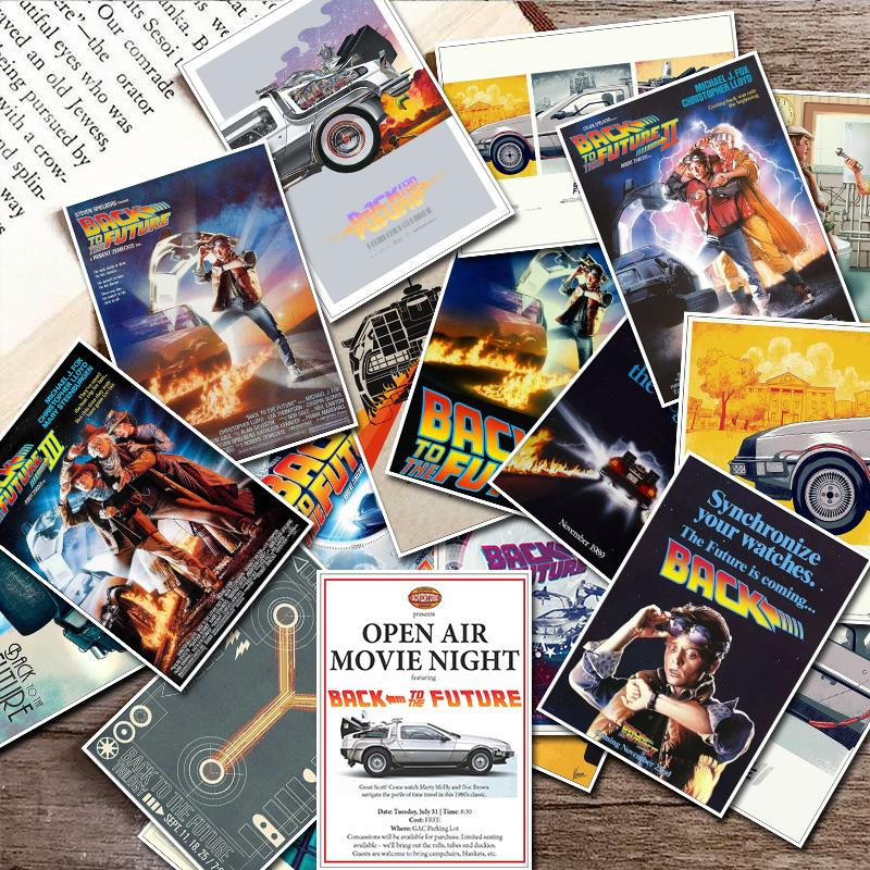 [해외]25pcs Movie Sticker Back To The Future Stickers for Skateboard/Laptop/Snowboard/Fridge/Surf Waterproof PVC Vinyl Decal Patterns/25pcs Movie Sticke