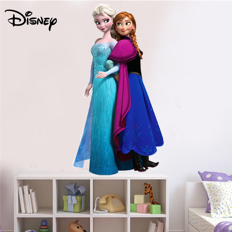 [해외]Disney Ice Romance Aisha Sticker Children`s Room Kindergarten Background Decoration Environmental Protection Waterproof Sticker/Disney Ice Romance