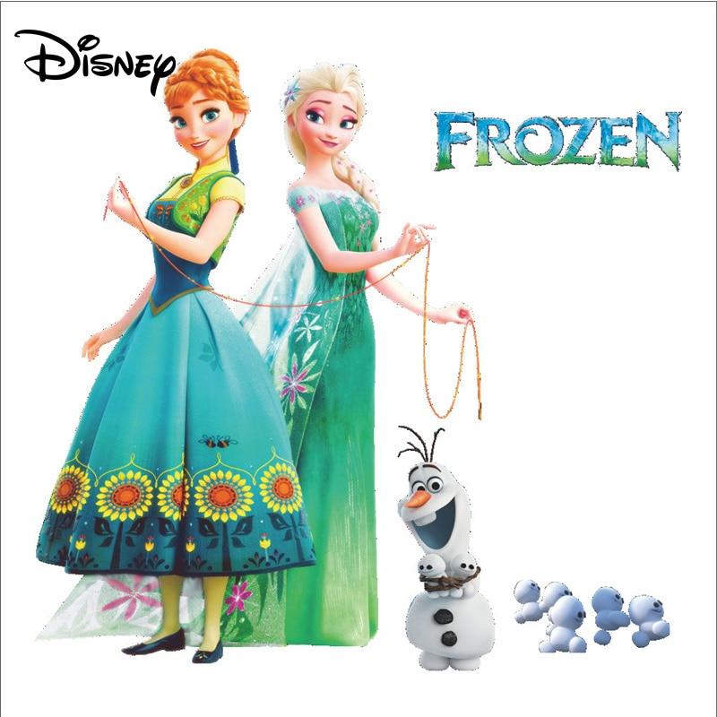 [해외]Disney Winter Romance Children`s Room Sticker Decoration Living Room TV Background Paper Stickers/Disney Winter Romance Children`s Room Sticker De