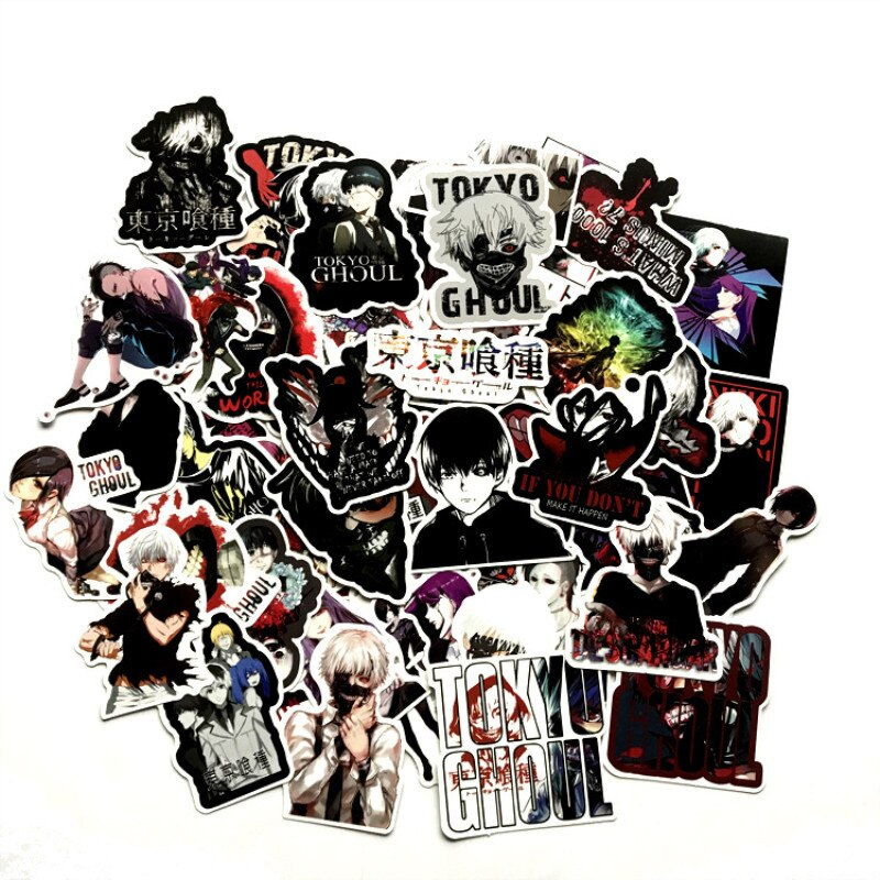 [해외]Horror Stickers Tokyo Ghoul Anime Sticker Pack Skateboard Laptop Scrapbook Suitcase Graffiti Motorcycl Waterproof Funny Stickers/Horror Stickers T