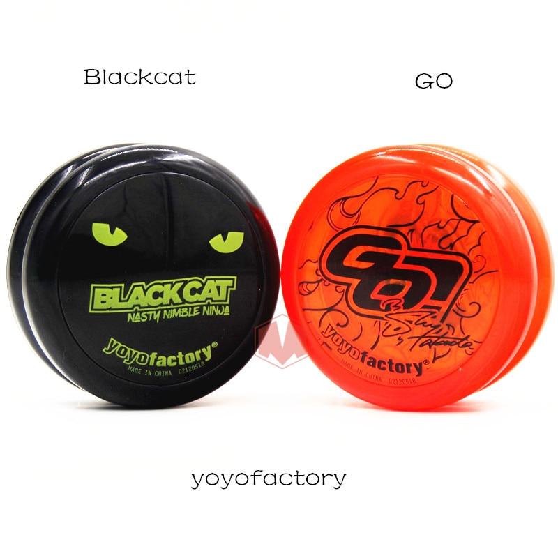 [해외]YYF Blackcat Go 2A YOYO 라이브 수면 요요 초보자 연습 yoyo 10 strings as gift/YYF Blackcat Go 2A YOYO 라이브 수면 요요 초보자 연습 yoyo 10 strings as gift