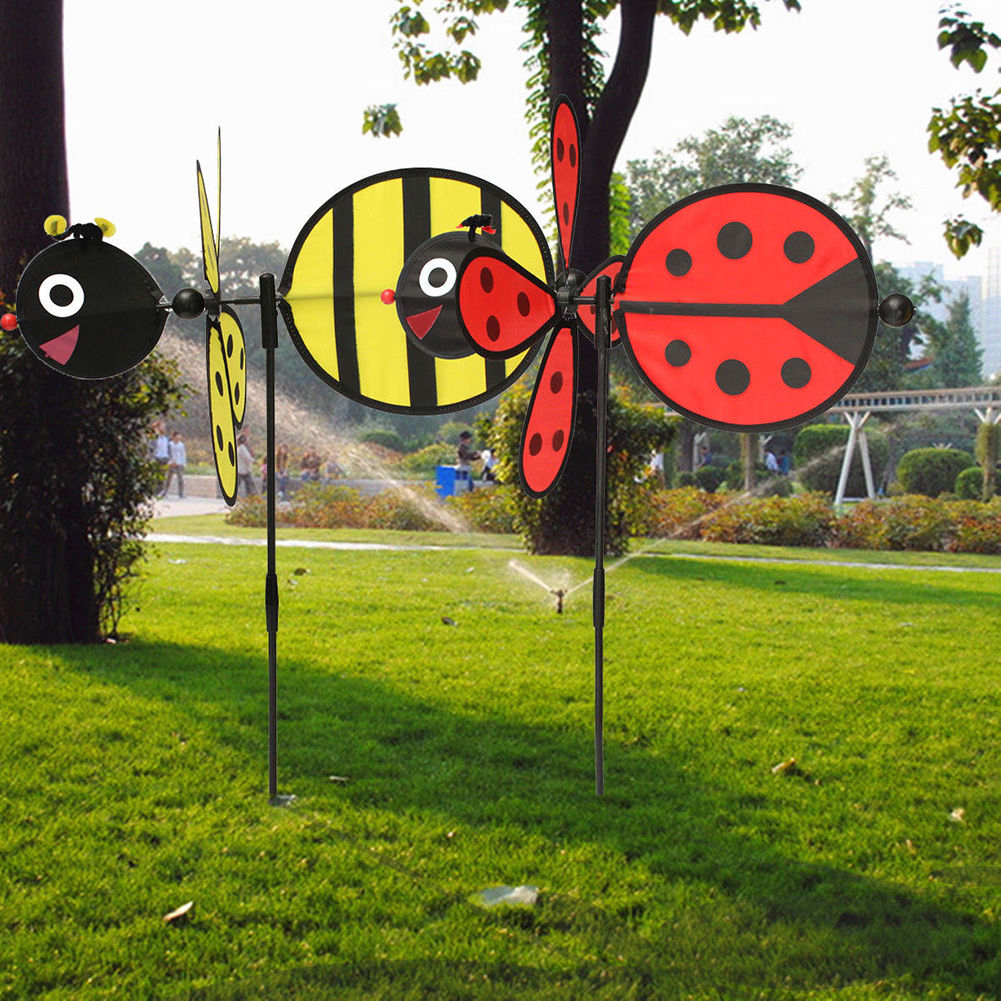 [해외]Bumble Bee / Ladybug Windmill Wind Spinner Home Yard Garden Festival Decor/Bumble Bee / Ladybug Windmill Wind Spinner Home Yard Garden F
