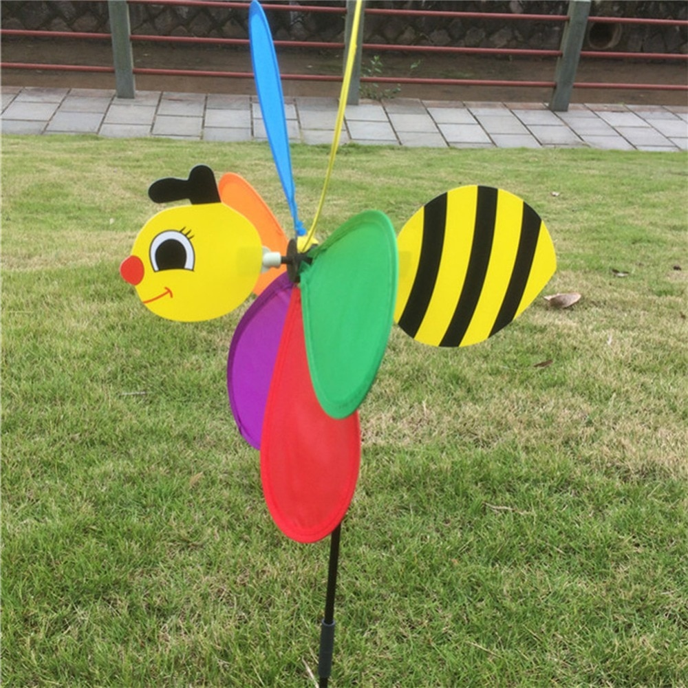 [해외]Colorful 3D Insect Large Animal Bee Ladybug Windmill Wind Spinner Whirligig Yard Garden Outdoor Classic Toys/Colorful 3D Insect Large Animal Bee L