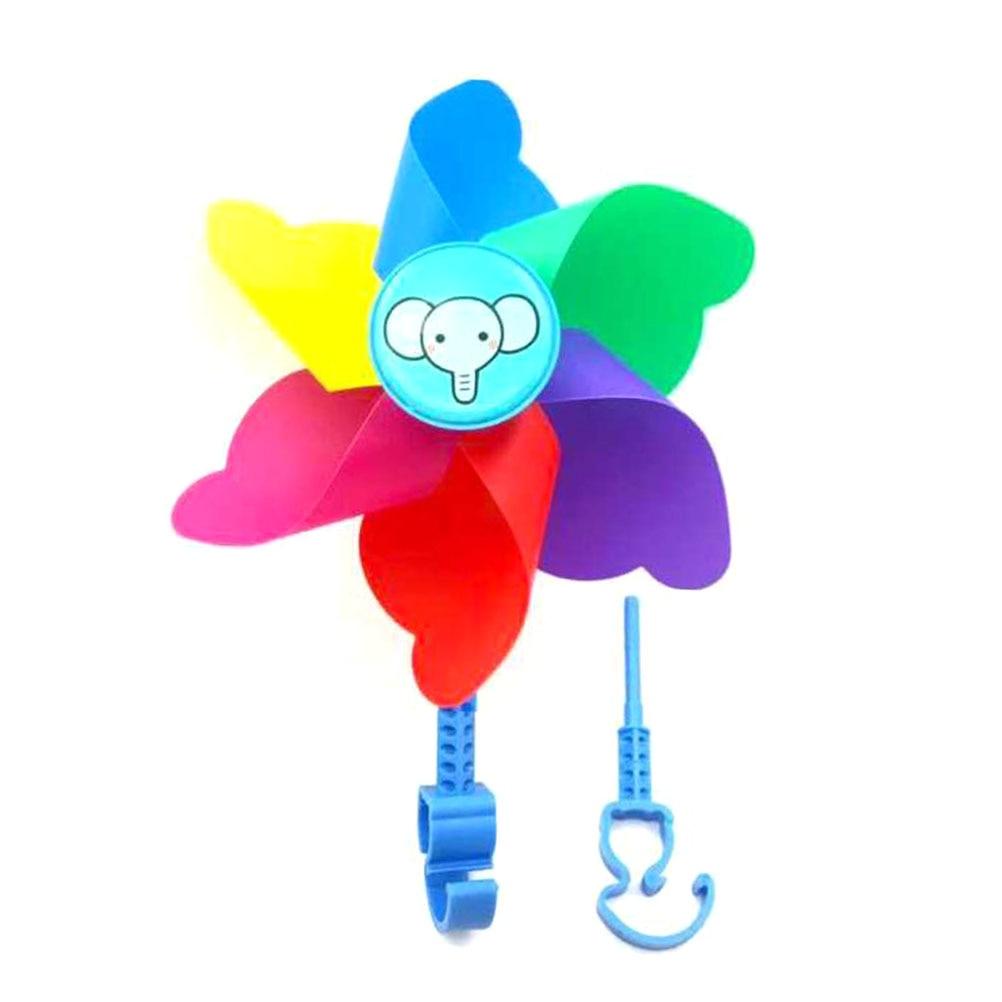 [해외]스쿠터 자전거 자전거 바람개비 장난감에 대 한 1pc 다채로운 바람개비 플라스틱 장식 내구성 바람 구동 장난감