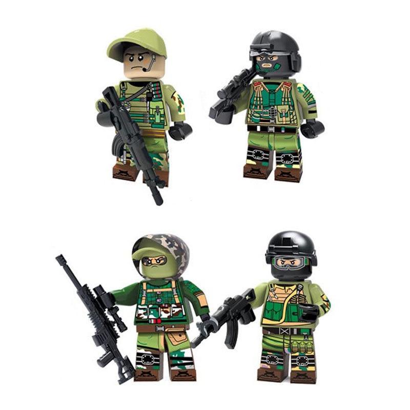 [해외]4pcs/lot Legoingly Military Russian Army Anti-terrorism Soldiers figures building blocks diy mini brick Toys for Children/4pcs/lot Legoingly Milit