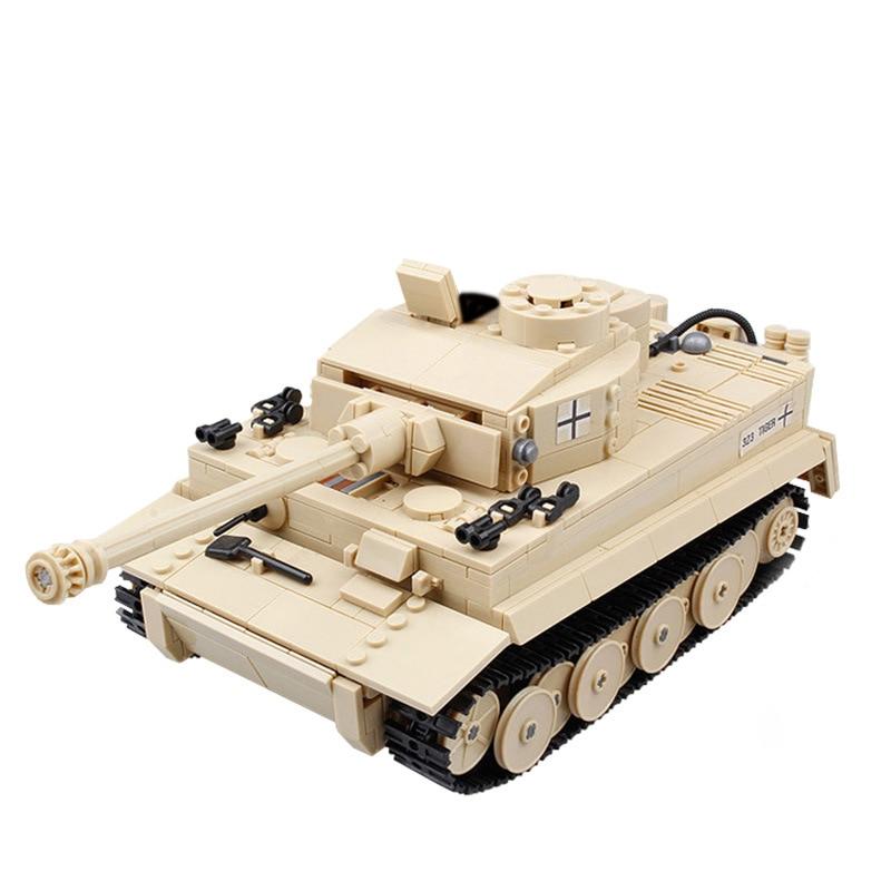 [해외]995pcs LegoING Military German King Tiger Tank Cannon Building Blocks Sets Soldiers Figures Bricks Educational Toys for Boy Gift/995pcs LegoING Mi