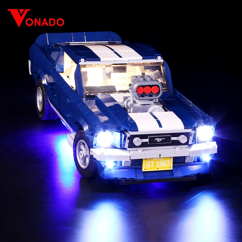 [해외]Led Light For Lego 10265 A B Ford Mustang DIY lighting creative race Car Building Blocks Toys Gifts (only light+Battery box)/Led Light For Lego 10