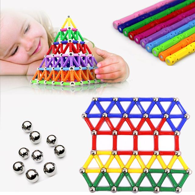 [해외]103/157pcs/set Creative Magnetic Design Blocks lot Child intelligence toys educational magnetic stick favorite gift block toys/103/157pcs/set Crea