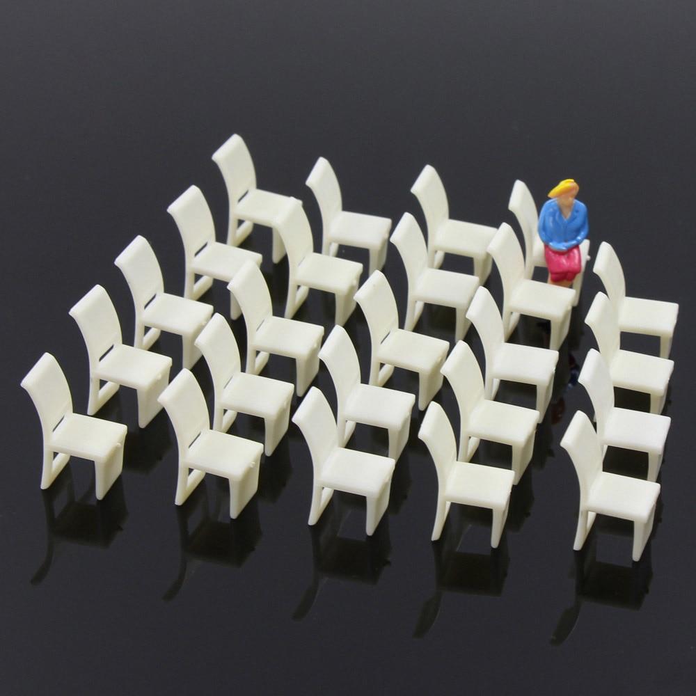 [해외]48pcs Model Train Railway Leisure Chair Settee Bench Layout 1:50 O 1:75 OO 1:100 TT Scale ZY10 model building kit/48pcs Model Train Railway Leisur