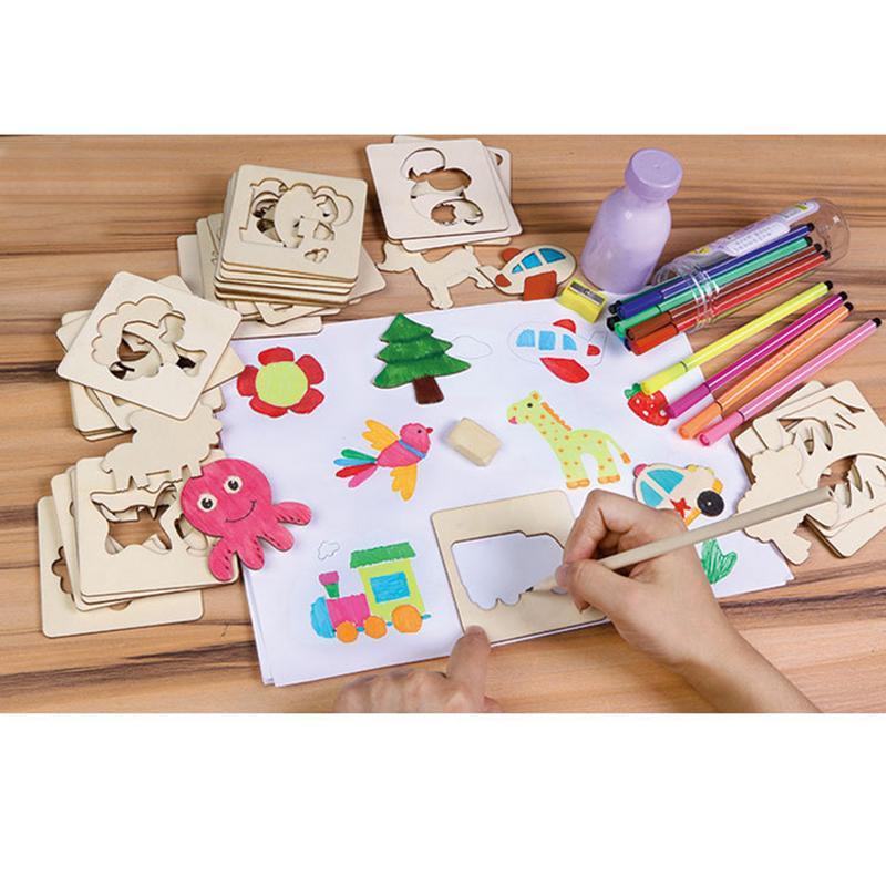 [해외]Preschool Learning Painting Primary Tool Doodle Paint Innovative Templates Learning Draw Set Tools Educational Toys For Children/Preschool Learnin