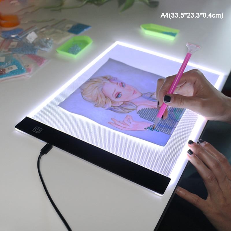 [해외]A4 led 라이트 박스 추적기 디지털 그리기 태블릿 usb led 추적 복사 보드 추적 테이블 그림 쓰기 패드 기울고 기계/A4 led 라이트 박스 추적기 디지털 그리기 태블릿 usb led 추적 복사 보드 추적 테이블 그림 쓰기 패드 기울고