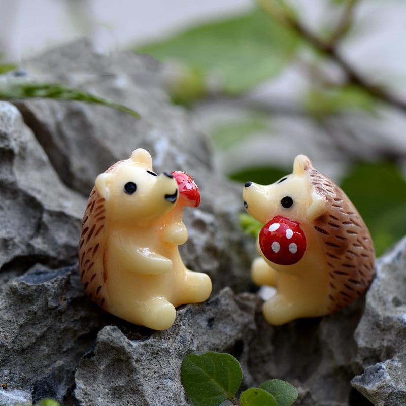[해외]즙이 많은 마이크로 조경 장식 버섯 고슴도치 diy 재료 plasticine 도구 점액 키트 점액 diy 용품 대화 형 장난감