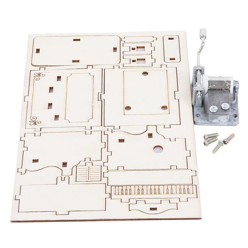 [해외]New small invention primary school science experiment toy Wood Music Box Puzzle christmas gift/New small invention primary school science experime